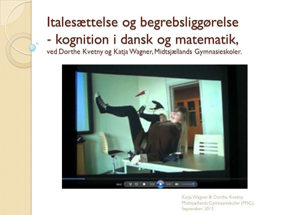 Katja Wagner & Dorthe Kvetny, Midtsjællands Gymnasieskoler (MSG)