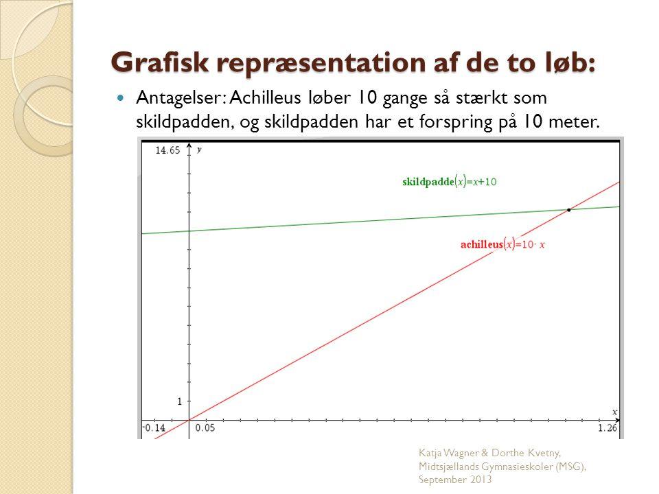 Grafisk repræsentation af de to løb: