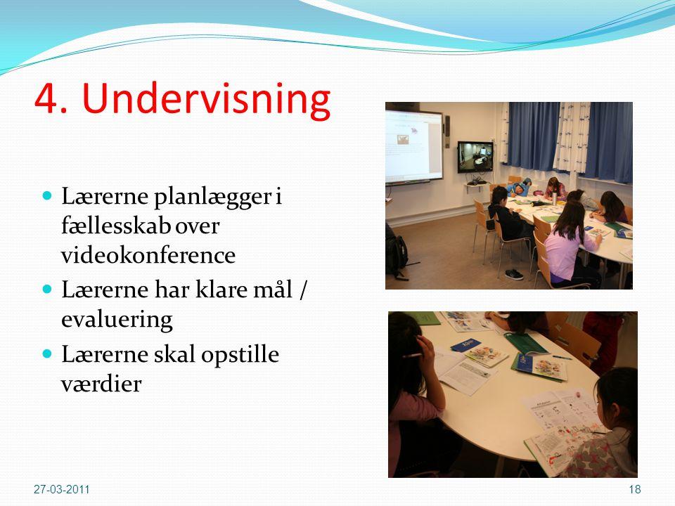 4. Undervisning Lærerne planlægger i fællesskab over videokonference