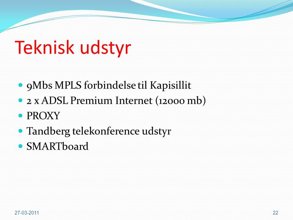Teknisk udstyr 9Mbs MPLS forbindelse til Kapisillit