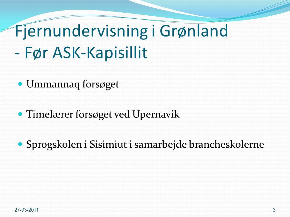 Fjernundervisning i Grønland - Før ASK-Kapisillit