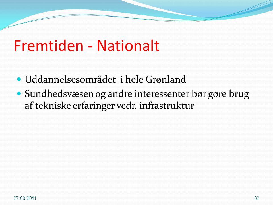 Fremtiden - Nationalt Uddannelsesområdet i hele Grønland