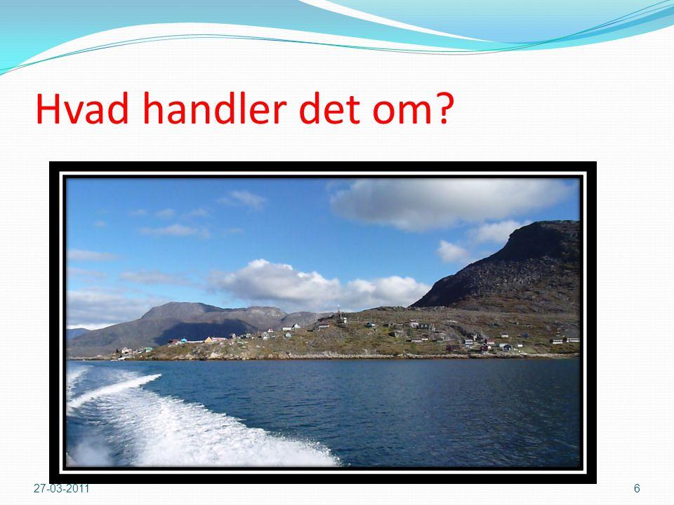 Hvad handler det om Dele af bygden Kapisillit fra søsiden i Nuuk fjord 27-03-2011