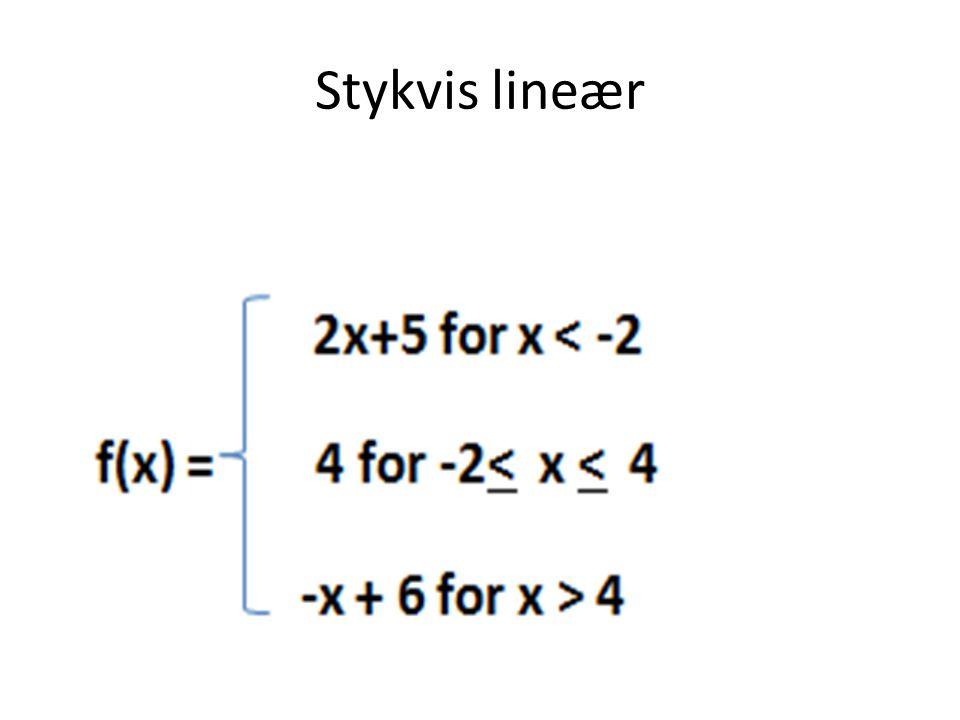 Stykvis lineær