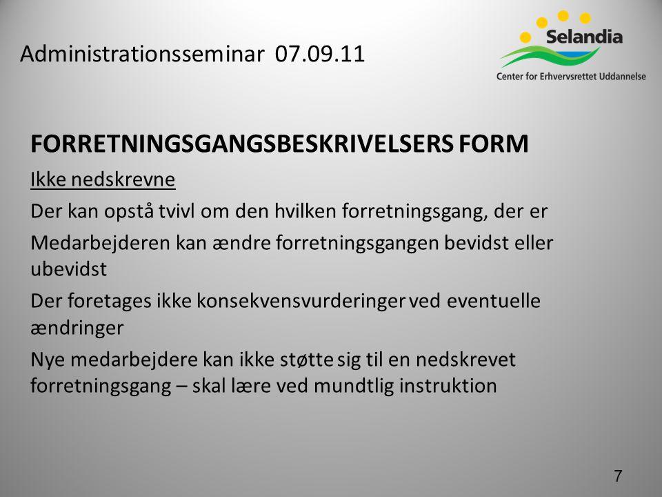 Administrationsseminar 07.09.11