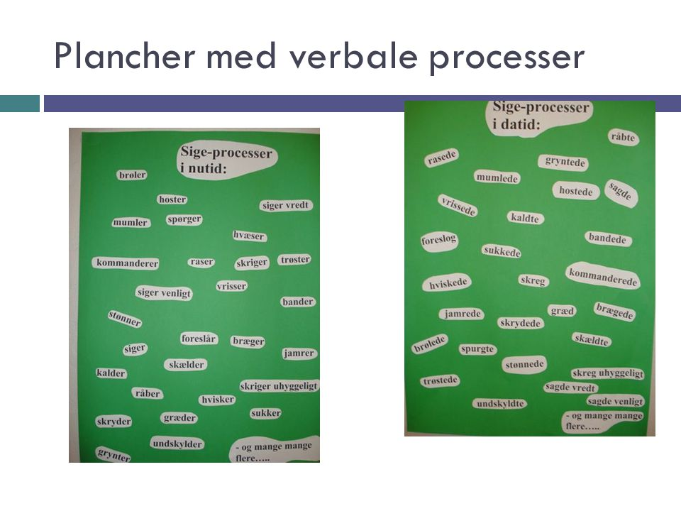 Plancher med verbale processer