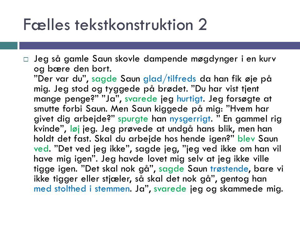 Fælles tekstkonstruktion 2