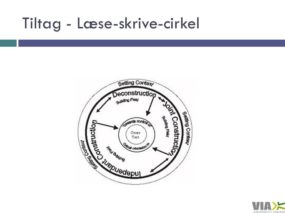 Tiltag - Læse-skrive-cirkel