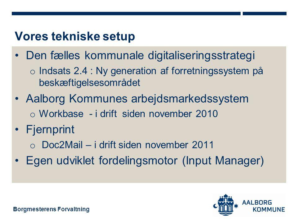 Vores tekniske setup Den fælles kommunale digitaliseringsstrategi
