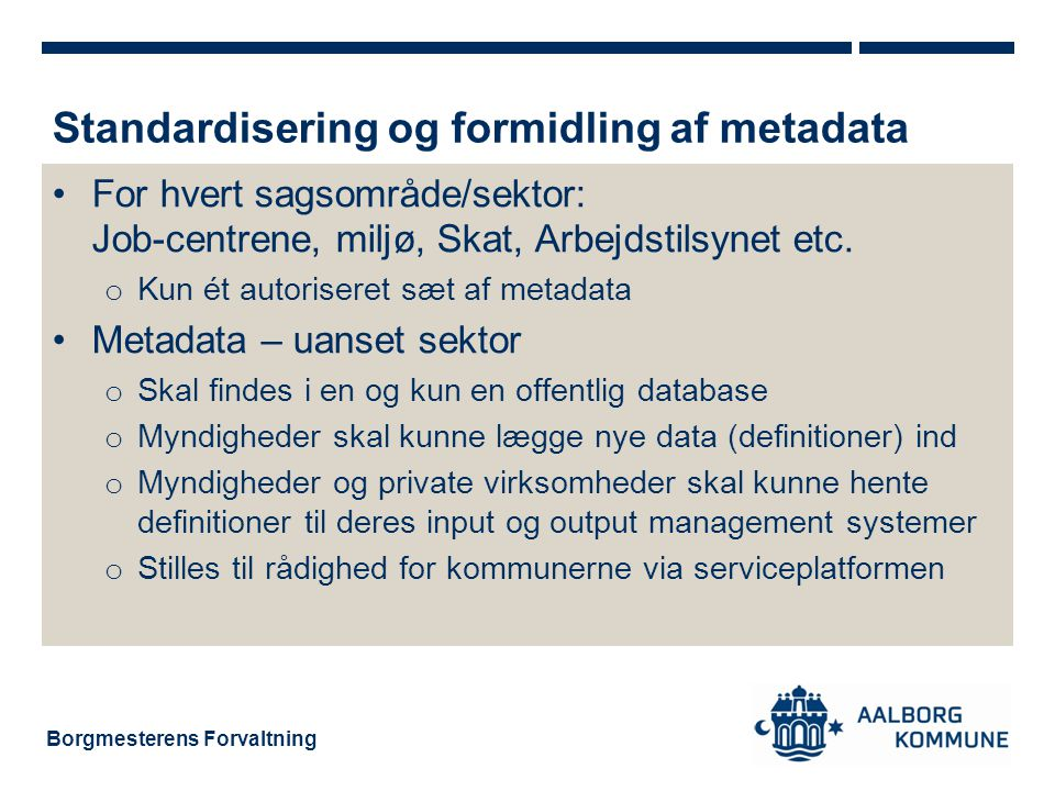 Standardisering og formidling af metadata