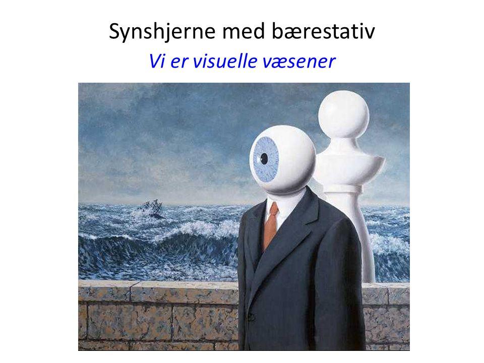 Synshjerne med bærestativ Vi er visuelle væsener