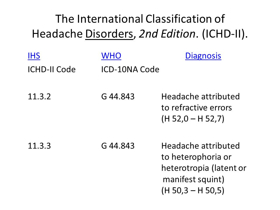 The International Classification of Headache Disorders, 2nd Edition