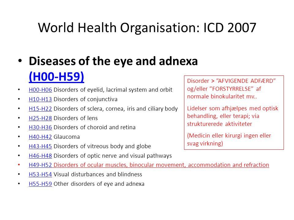 World Health Organisation: ICD 2007