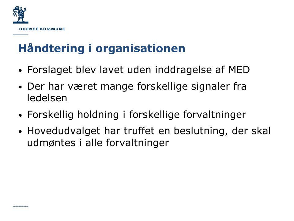 Håndtering i organisationen