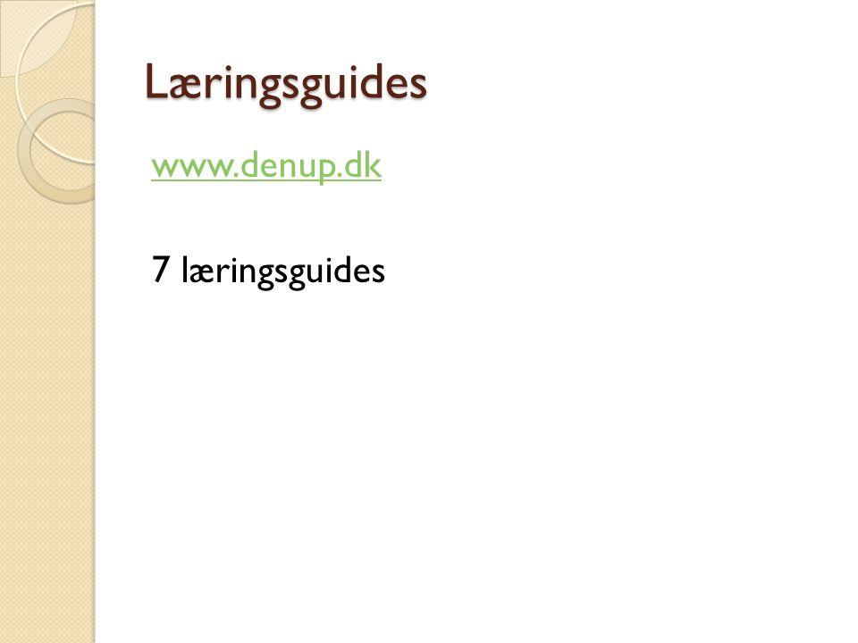 Læringsguides www.denup.dk 7 læringsguides