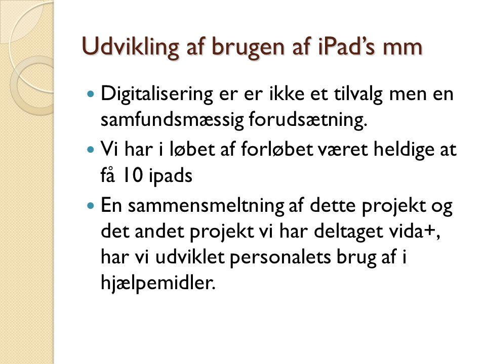 Udvikling af brugen af iPad's mm