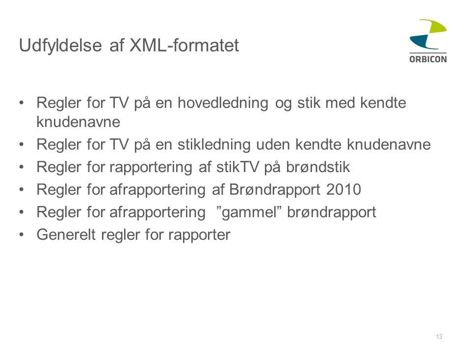 Udfyldelse af XML-formatet