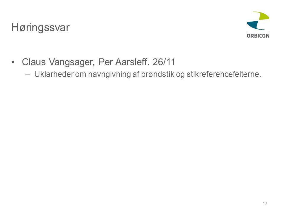 Høringssvar Claus Vangsager, Per Aarsleff. 26/11