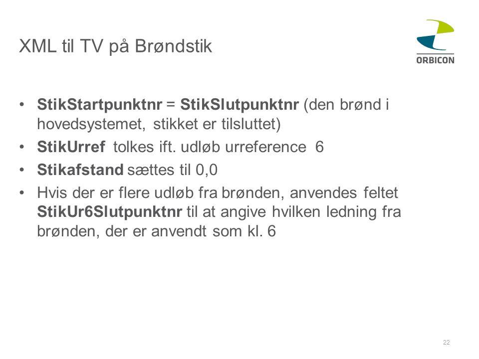 XML til TV på Brøndstik StikStartpunktnr = StikSlutpunktnr (den brønd i hovedsystemet, stikket er tilsluttet)