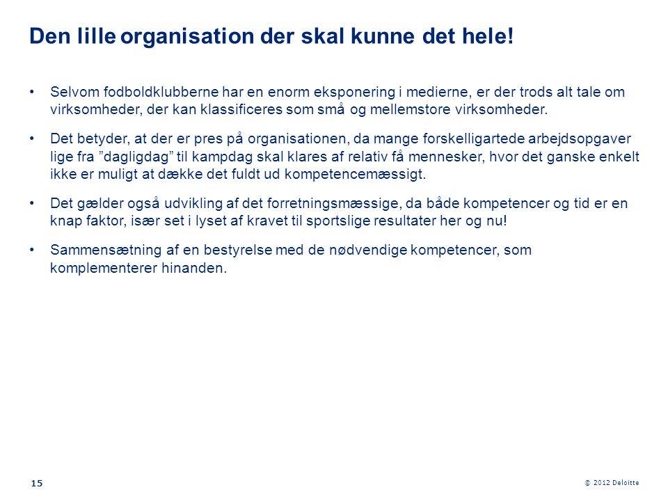Den lille organisation der skal kunne det hele!
