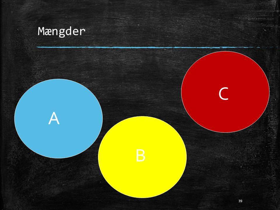 Mængder C A B