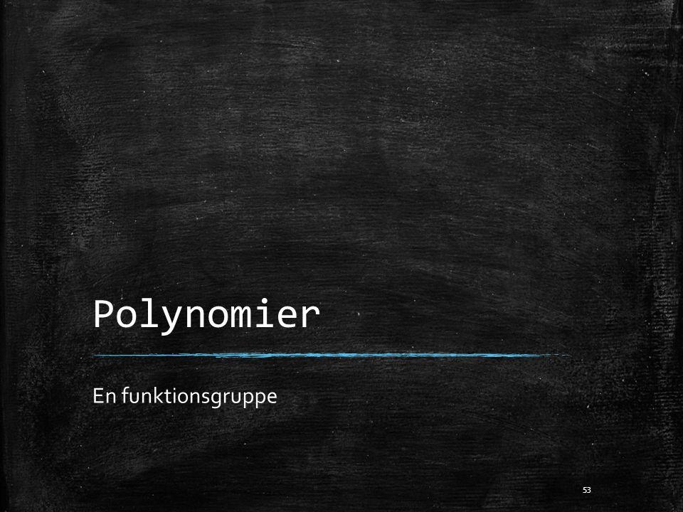 Polynomier En funktionsgruppe