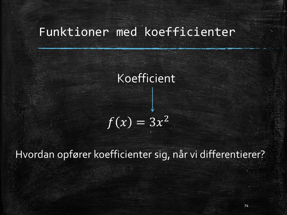 Funktioner med koefficienter