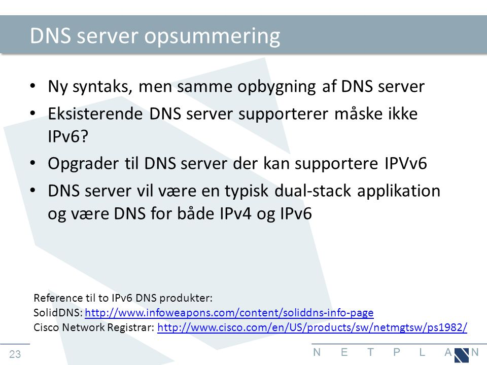 DNS server opsummering