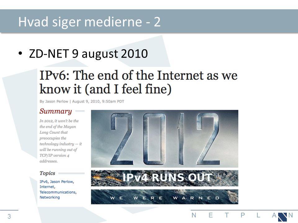 Hvad siger medierne - 2 ZD-NET 9 august 2010