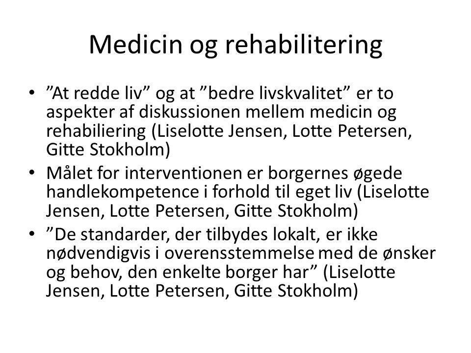Medicin og rehabilitering