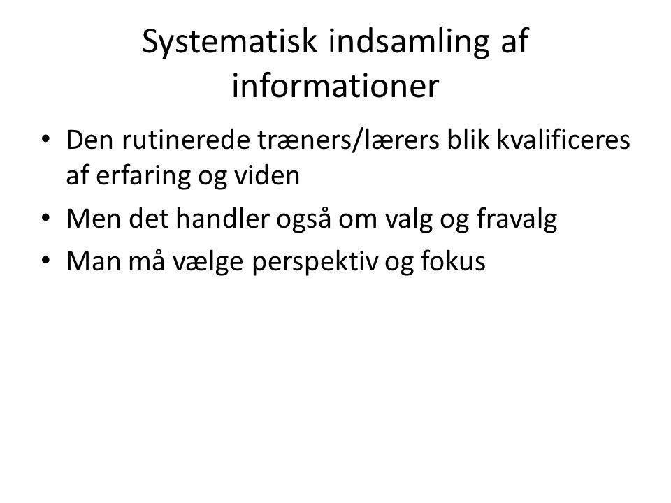 Systematisk indsamling af informationer