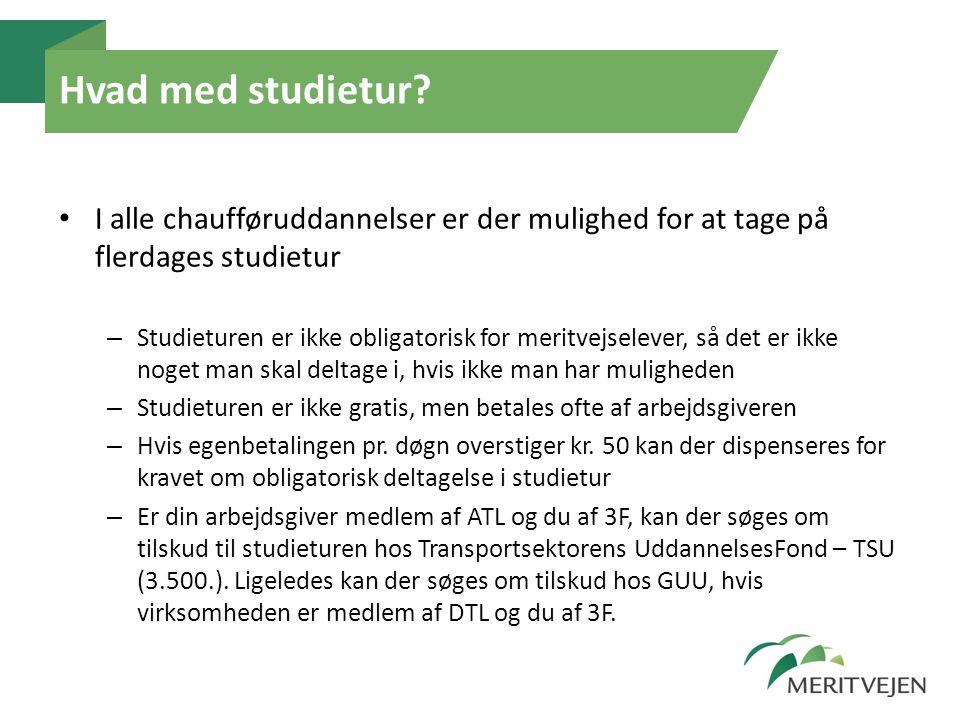 Hvad med studietur I alle chaufføruddannelser er der mulighed for at tage på flerdages studietur.