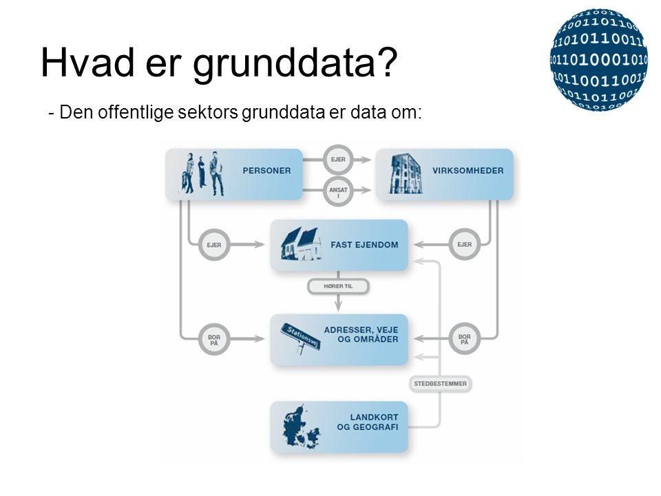 Hvad er grunddata - Den offentlige sektors grunddata er data om: