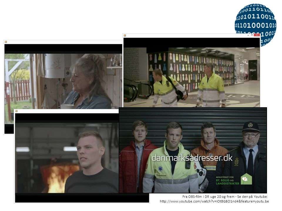 Og i en lille 45 sekunders OBS-film forklares alvoren i at have gode og præcise adresser. Alle er velkomne til at integrere videoen på egen hjemmeside eller sprede den på anden måde i deres netværk.