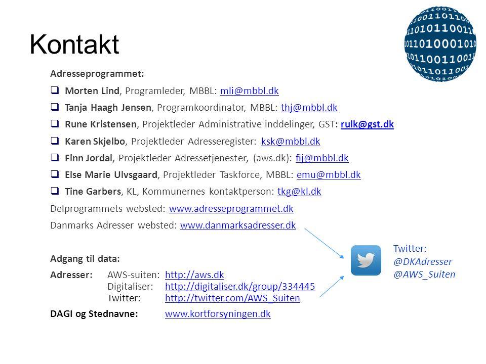 Kontakt Adresseprogrammet: