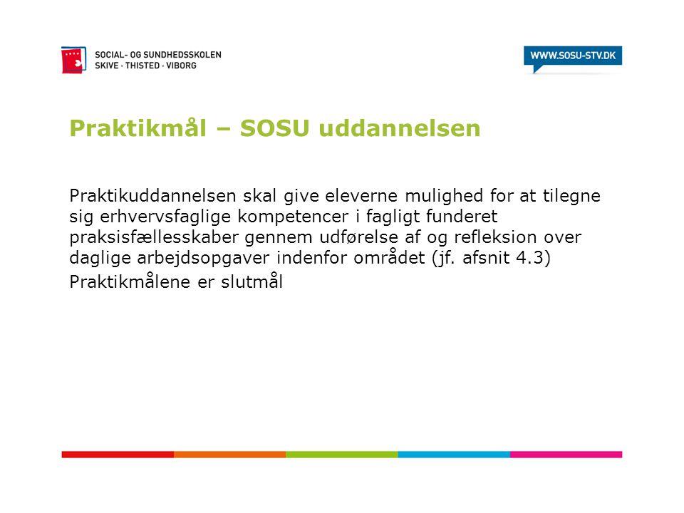 Praktikmål – SOSU uddannelsen