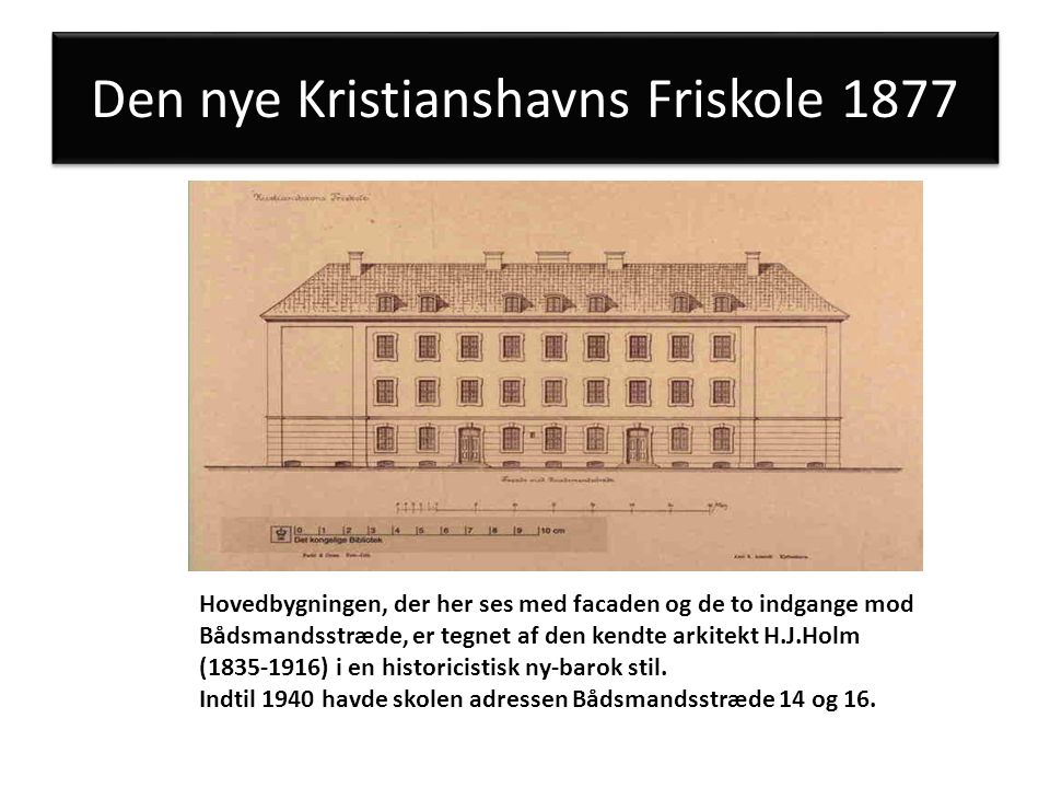 Den nye Kristianshavns Friskole 1877