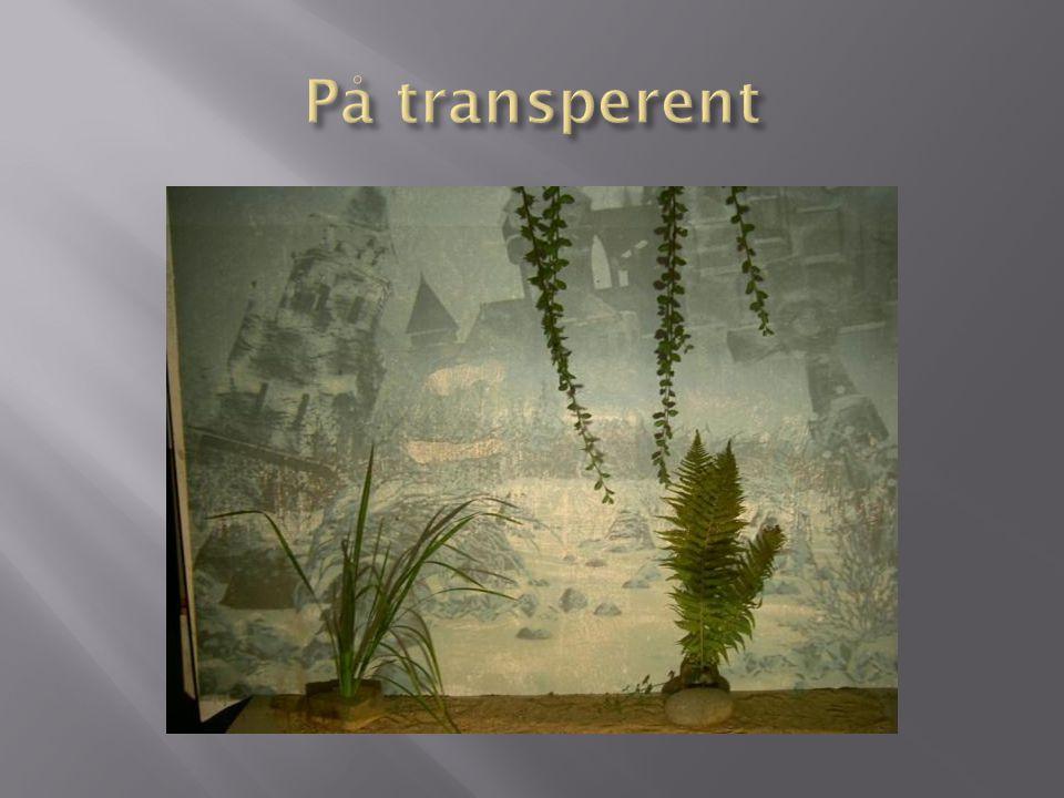 På transperent