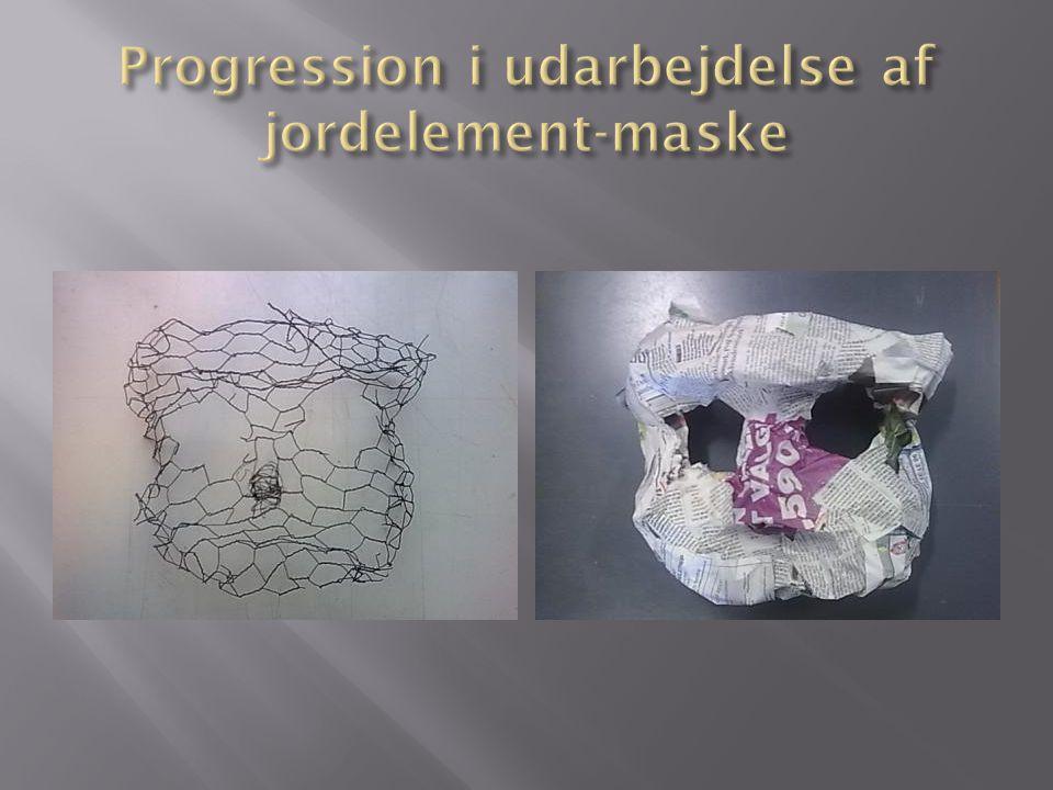 Progression i udarbejdelse af jordelement-maske