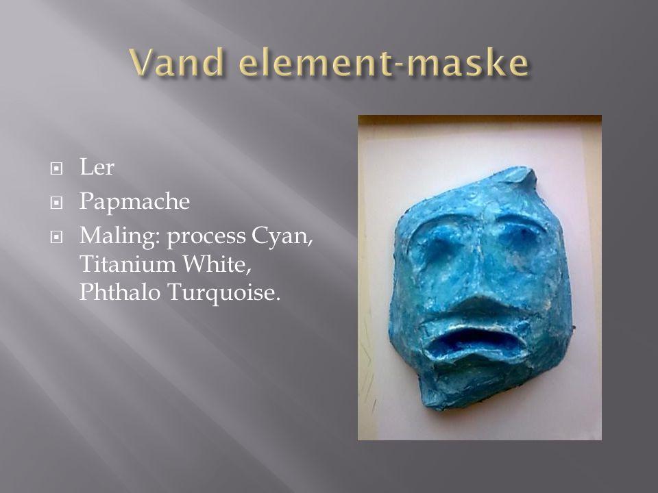 Vand element-maske Ler Papmache