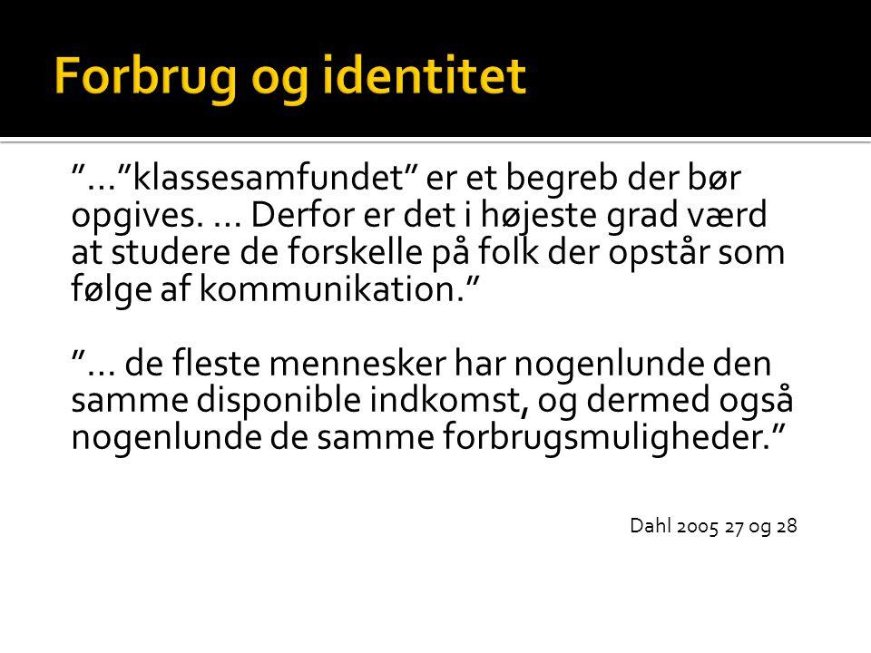Forbrug og identitet