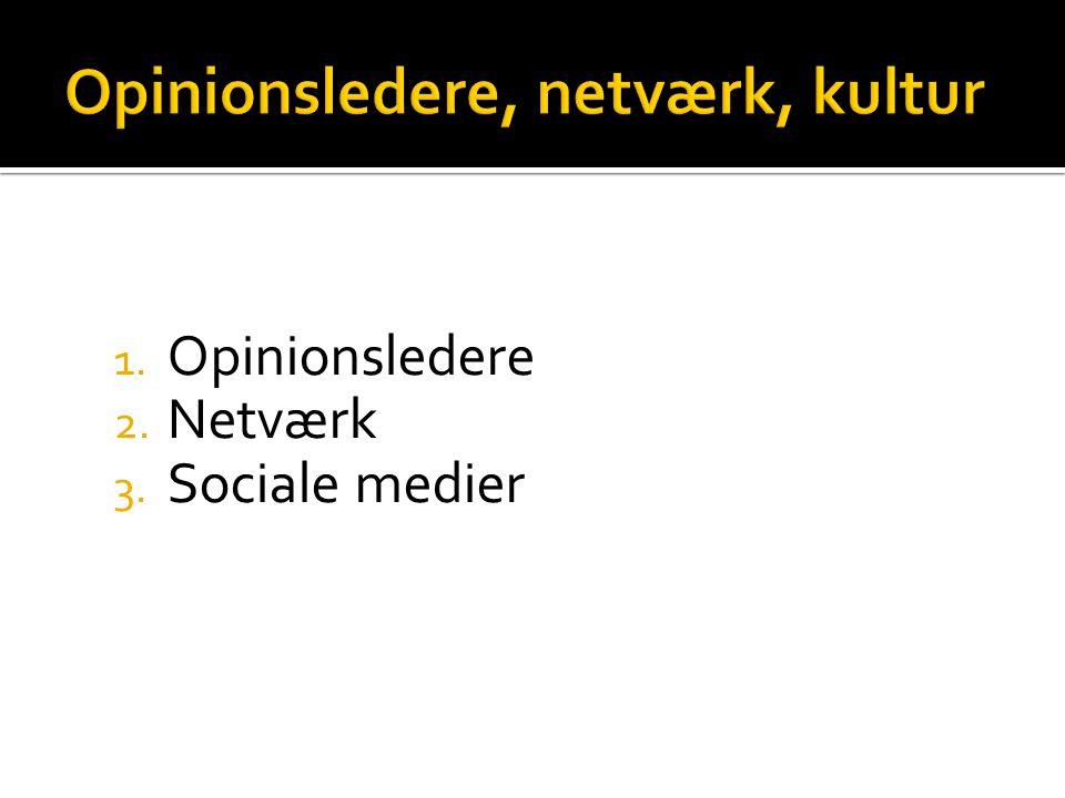 Opinionsledere, netværk, kultur