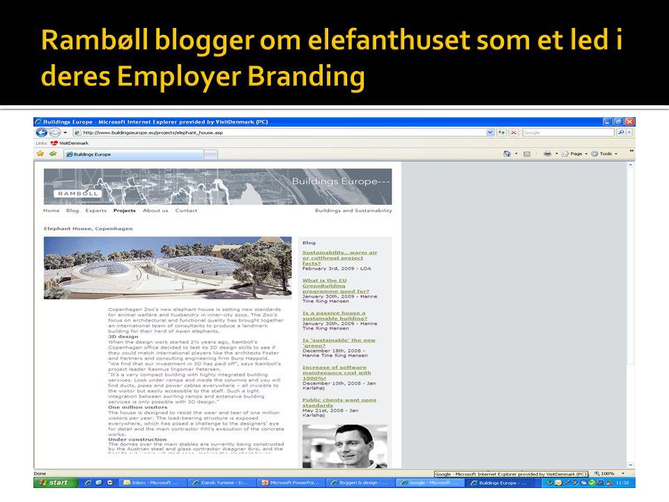 Rambøll blogger om elefanthuset som et led i deres Employer Branding