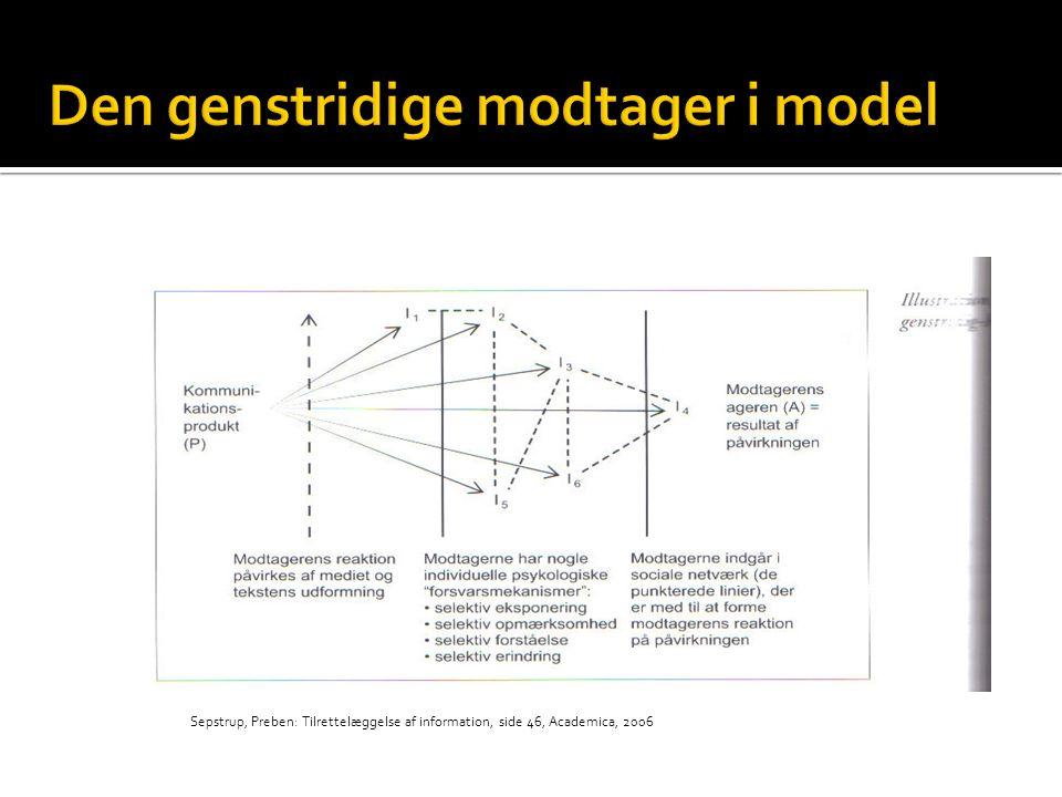 Den genstridige modtager i model