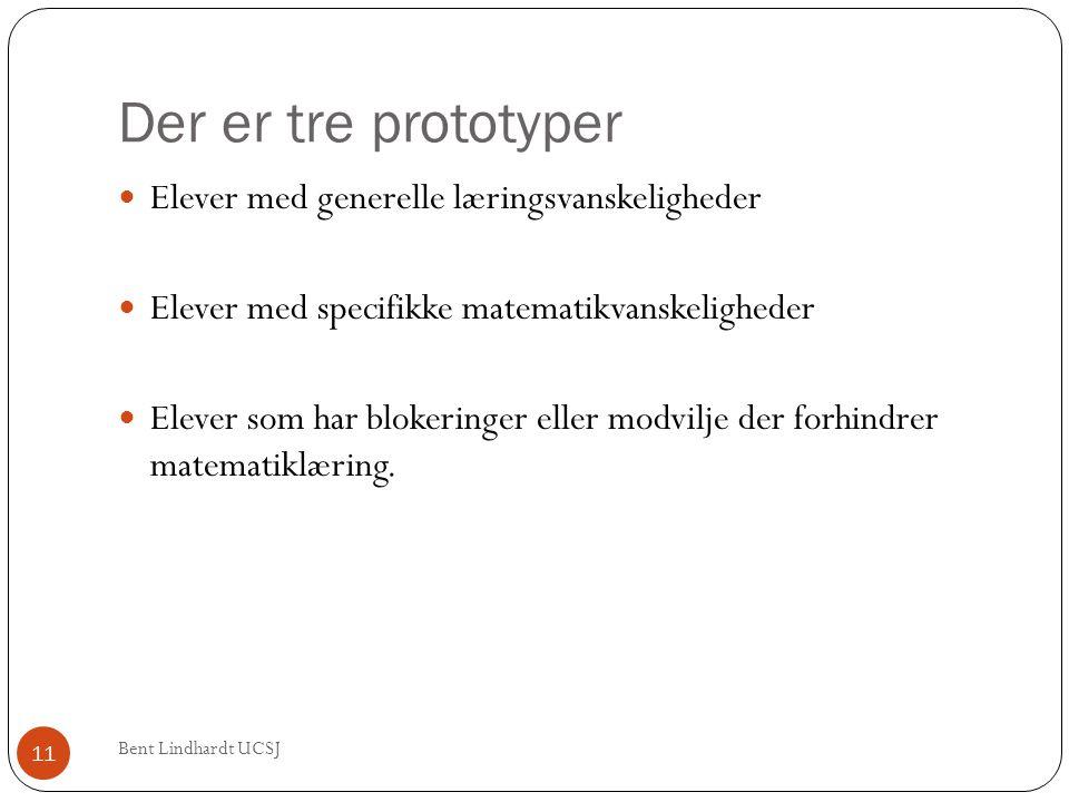 Der er tre prototyper Elever med generelle læringsvanskeligheder