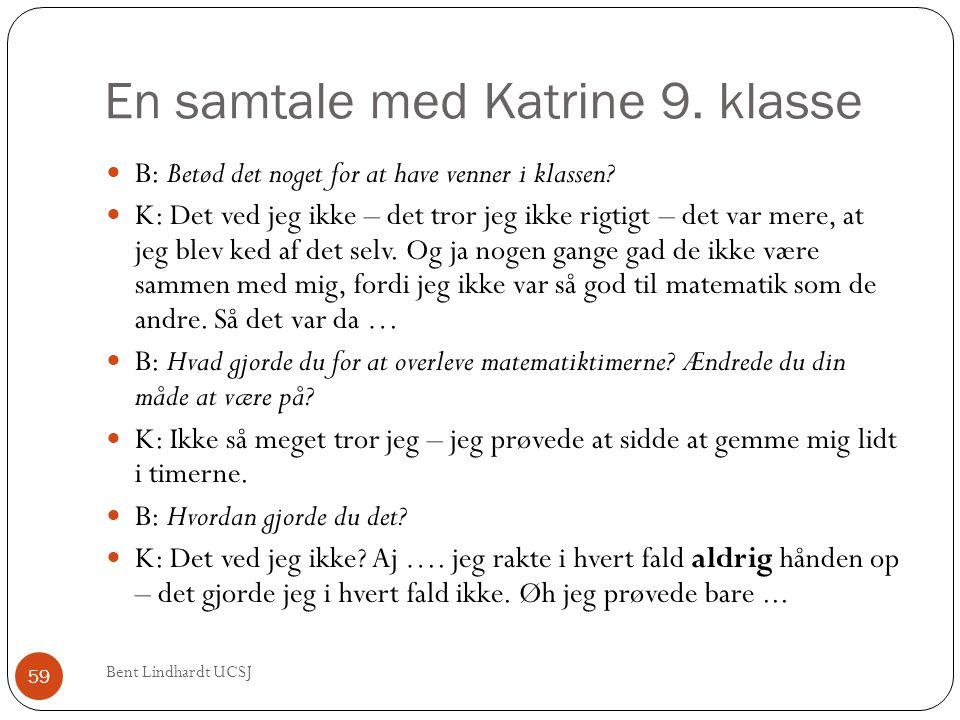 En samtale med Katrine 9. klasse