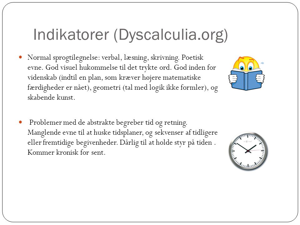 Indikatorer (Dyscalculia.org)