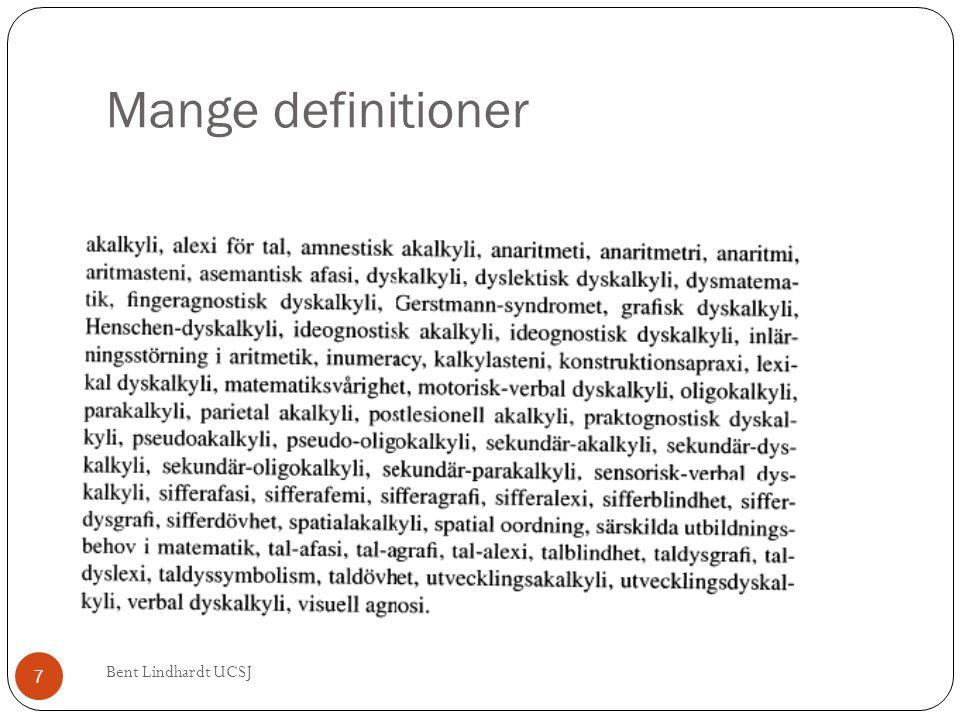 Mange definitioner Bent Lindhardt UCSJ