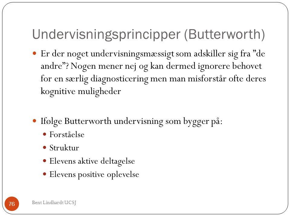 Undervisningsprincipper (Butterworth)