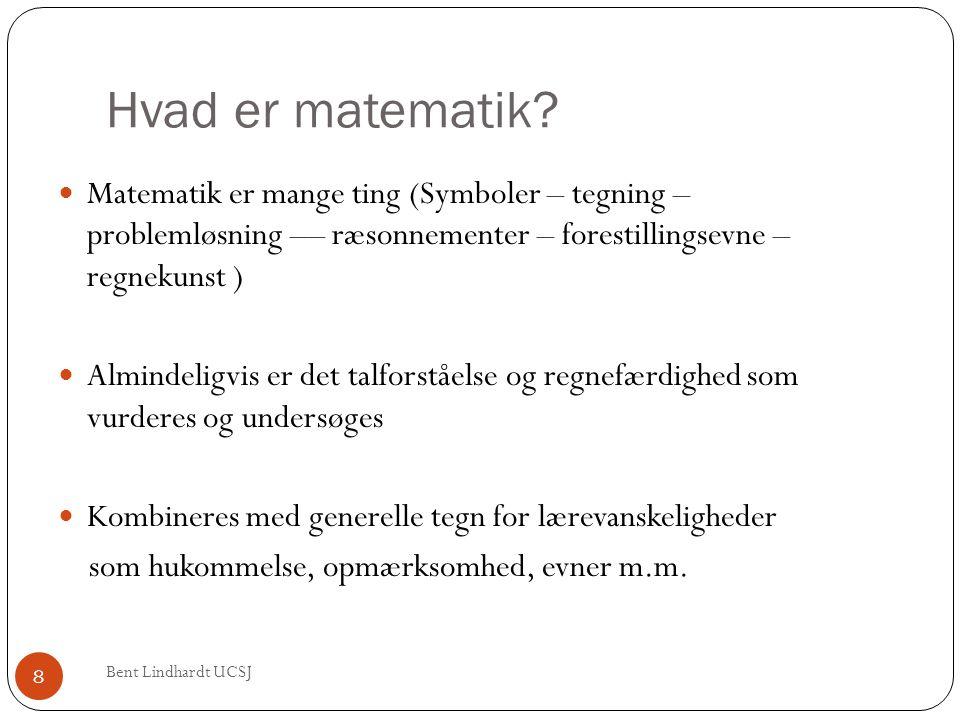 Hvad er matematik Matematik er mange ting (Symboler – tegning – problemløsning –– ræsonnementer – forestillingsevne – regnekunst )